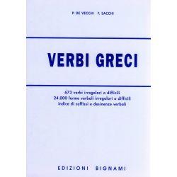 Dizionario Verbi greci - Forme verbali, indice di suffissi e desinenze - Edizioni Bignami