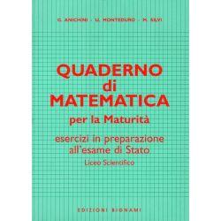 Quaderno di Matematica - Esercizi in preparazione alla Maturità - Edizioni Bignami
