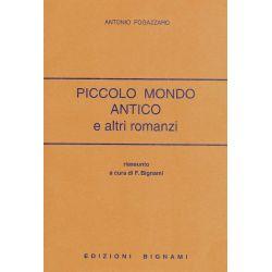 Piccolo mondo antico e altri romanzi - Antonio Fogazzaro - Riassunto