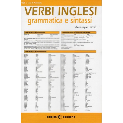 Scheda dei Verbi Inglesi - Grammatica e sintassi - Edizioni Bignami