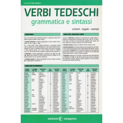 Verbi tedeschi - Grammatica e sintassi - Scheda