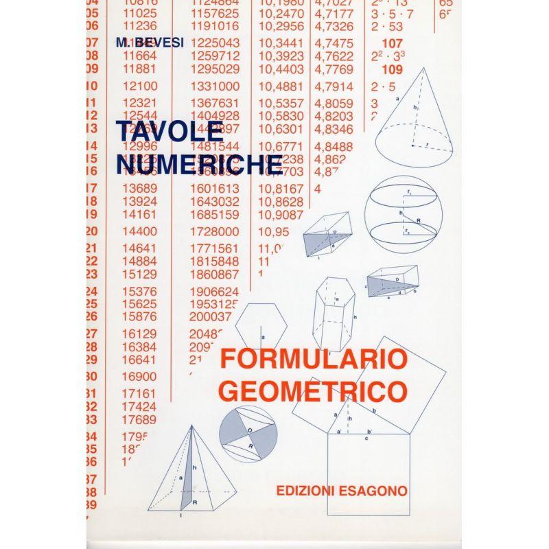 Tavole numeriche formulario geometrico edizioni bignami - Tavole numeriche radici quadrate da 1 a 10000 ...