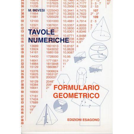 Tavole numeriche - Formulario geometrico - Scuola media e Scuole Superiori