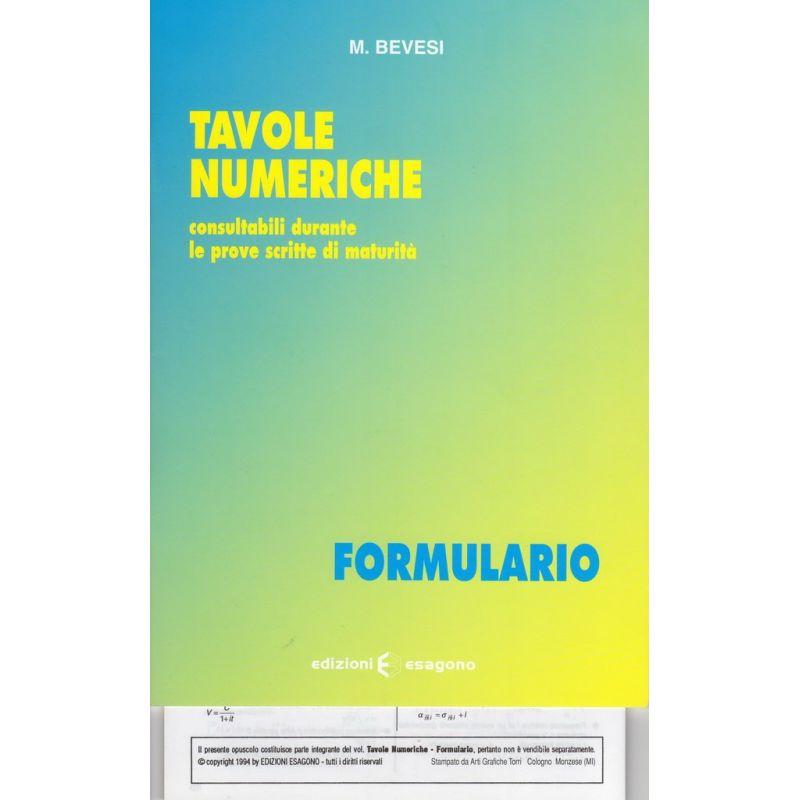 Tavole numeriche - Formulario - Edizioni Bignami