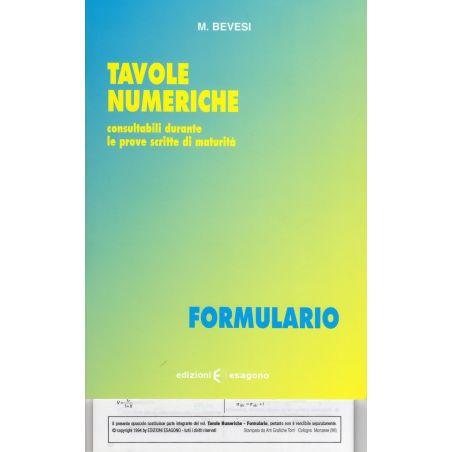 Formulario di Tavole numeriche - Edizioni Bignami