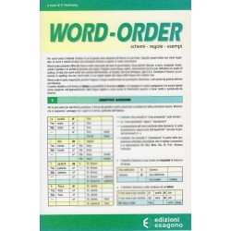 Word-order - L'ordine delle parole nella frase inglese - Scheda
