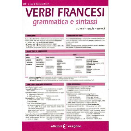 Verbi francesi - Grammatica e sintassi - Scheda